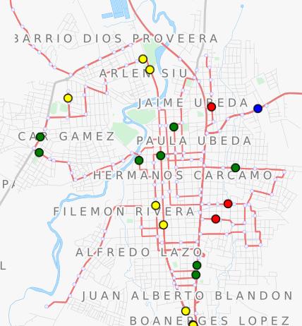 TRAVIC, zur Simulation der Buspositionen in Echtzeit