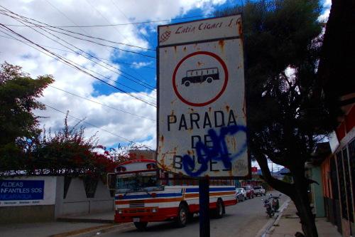 Haltestellenschild in Estelí