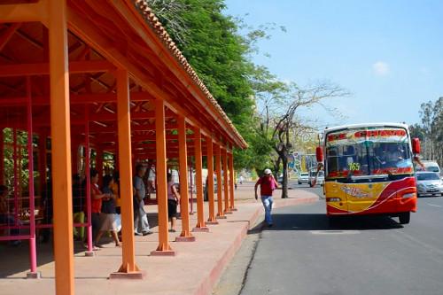 Haltestellenhaus in Managua