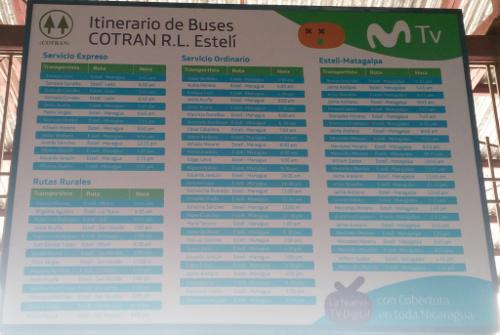 in Estelí, gesponsert von einem Mobilfunkanbieter