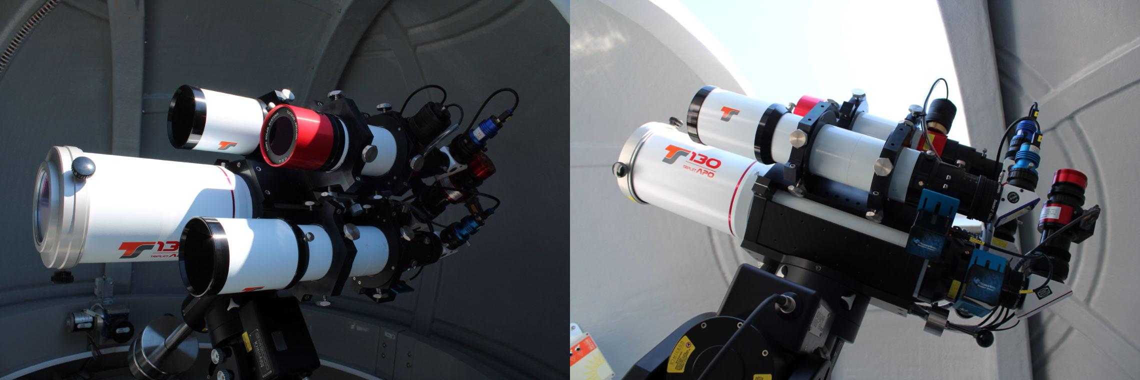 Los 4 telescopios, especializados para diferentes longitudes de onda